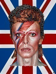 David Bowie - Best of British by Paul Normansell -  sized 24x32 inches. Available from Whitewall Galleries